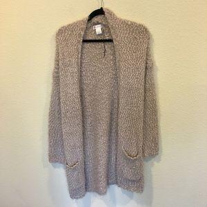 Sole Society Sweaters - NWOT Sole Society eyelash knit cardigan pockets